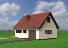 Проект мансардного будинку з гаражем і пічкою