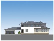 Архітектурний проект для будівництва двоповерхового особняка 530 m²