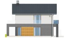 Проект двоповерхового котеджу для вузької ділянки