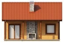 Проект невеликого бюджетного одноповерхового будинку з дерев'яним фасадом