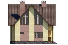 План незвичайного гарного двоповерхового будинку