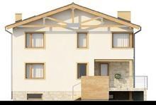 Проект двоповерхового будинку з підвалом