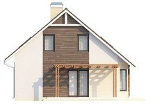 Проект будинку з мансардою із газобетону