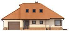 Проект будинку з гаражем, кутовою терасою