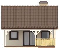 Проект невеликого будинку з критою терасою