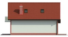 Проект приватного заміського світлого котеджу з мансардою
