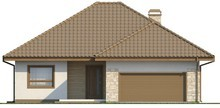 Проект великого одноповерхового будинку з гаражем для двох авто