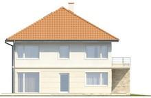 Проект двоповерхового будинку на дві сім'ї з терасою над гаражем