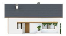 Проект одноповерхового будинку з невеликим горищем