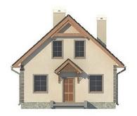 Проект класичного будинку з мансардою
