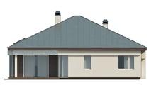 Проект одноповерхового котеджу з гаражем і цегляним фасадом
