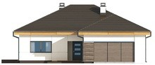 Проект одноповерхового котеджу з гаражем на дві машини