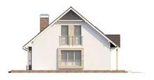 Проект стильного будинку з мансардою та гаражем