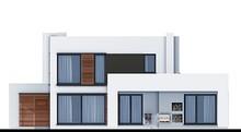 Модний житловий будинок з спальнями на першому та другому поверсі