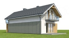 Двоповерховий будинок для вузької ділянки