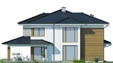 Проект модного красивого будинку з другим світлом