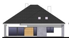 Проєкт будинку з виступаючим фронтальним гаражем