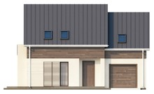 Проект котеджу простої форми з двосхилим дахом