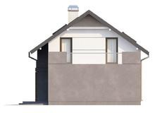 Проект котеджу з терасою і сучасними елементами