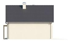 Проект світлого дачного котеджу з мансардою та гаражем