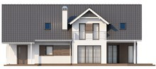 Проект котеджу з вбудованим гаражем і кабінетом