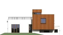 Оригінальний проект житлового будинку площею 180 кв. м в стилі мінімалізму з величезними терасами