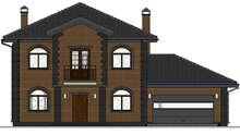Проект двоповерхового будинку з цегляним фасадом загальною площею 204 кв.м.