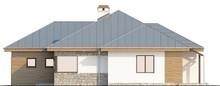 Проект одноповерхового котеджу з гаражем для двох авто