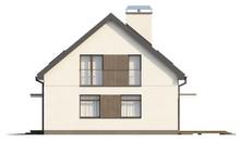 Проект традиційного котеджу з вбудованим гаражем
