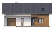 Проект котеджу з гаражем і кабінетом на першому поверсі