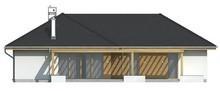 Проект одноповерхового котеджу з фронтальним гаражем для двох машин