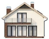 Проект будинку з мансардою і вбудованим гаражем