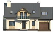 Проект сучасного будинку з п'ятьма спальнями і гаражем