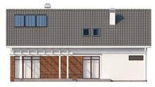 Проект котеджу з вбудованим гаражем і мансардою