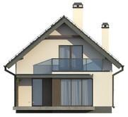 Проект вузького будинку з мансардою в традиційному стилі