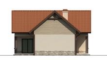 Проект дачного маленького будинку з мансардою для невеликої ділянки