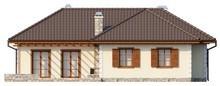 Проект одноповерхового будинку з просторим горищем