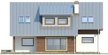 Проект будинку з мансардою і додатковою спальнею на першому поверсі