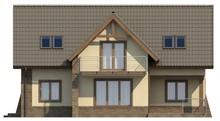 Проект котеджу з додатковою вітальнею на 2 поверсі