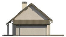 Проект класичного будинку з одинарним гаражем