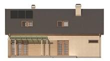Проект великого котеджу з красивою мансардою та гаражем