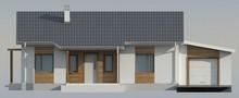 Класичний проект невеликого дачного будинку