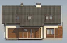 Проект котеджу з гаражем