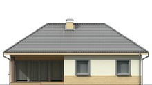 Проект будинку з кутовим вікном в кухні