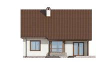 Проект невеликого затишного дачного будинку з двосхилим дахом