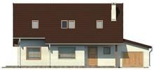 Проект економічного будинку з мансардою та гаражем