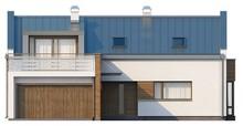 Проект котеджу з терасою на другому поверсі і п'ятьма спальнями