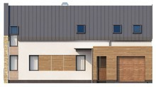 Проект сучасного будинку з мансардою та гаражем