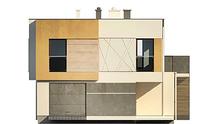 Проект двоповерхового будинку хай тек з плоским дахом