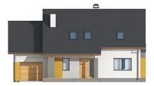 Проект стильного практичного будинку з мансардою, гаражем